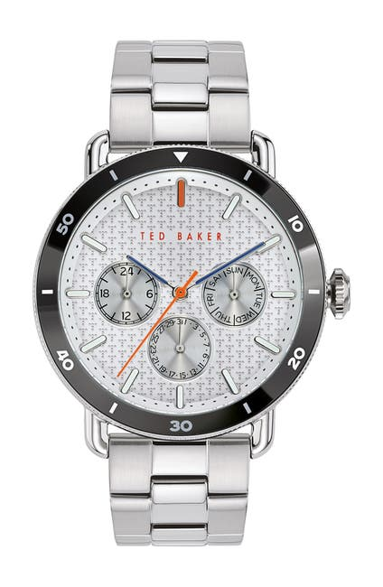 Image of Ted Baker London Men's Margarit Leather Strap Watch, 46mm