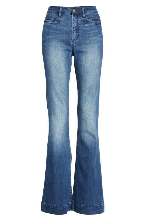 a7bea132e Leith High Waist Flare Jeans   Nordstrom