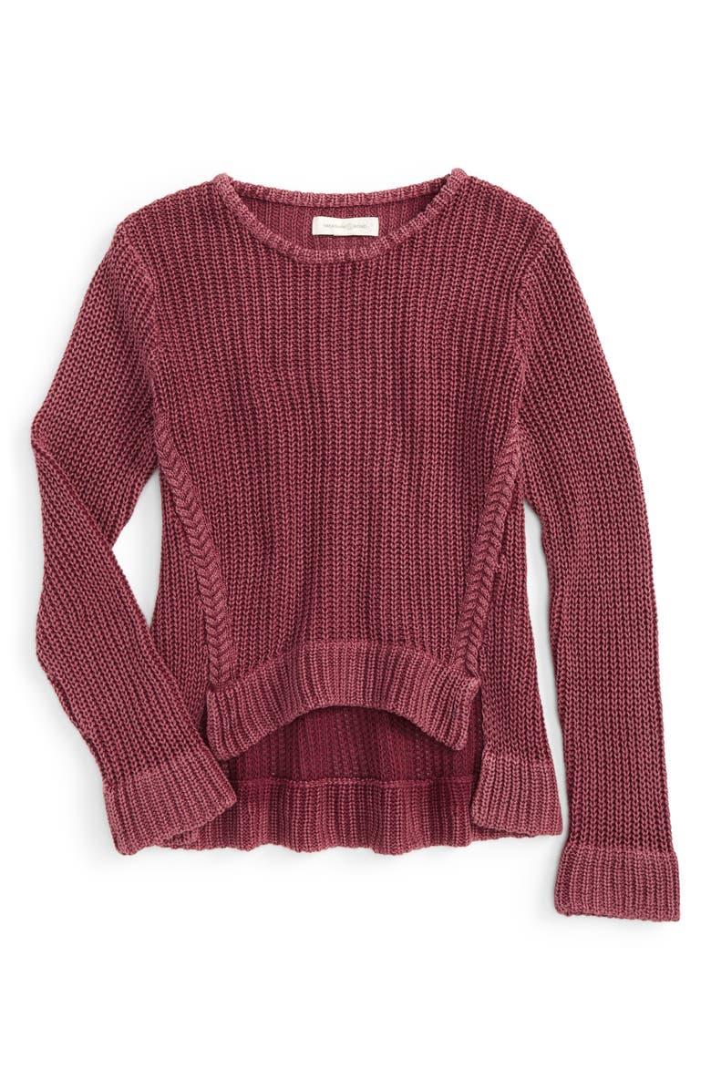 TREASURE & BOND Acid Wash Sweater, Main, color, 930