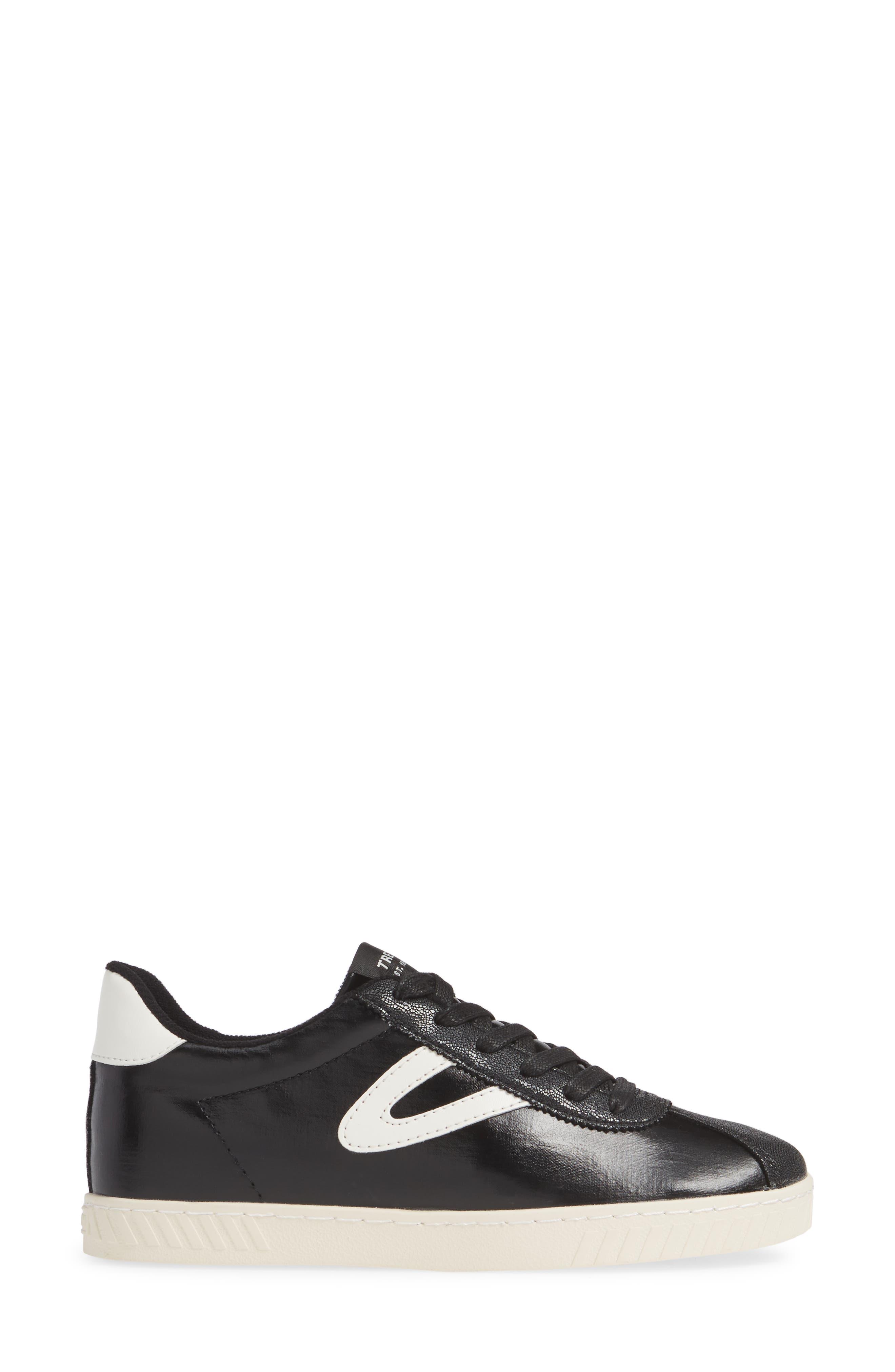 ,                             Callie 5 Sneaker,                             Alternate thumbnail 3, color,                             BLACK/ VINTAGE WHITE FABRIC