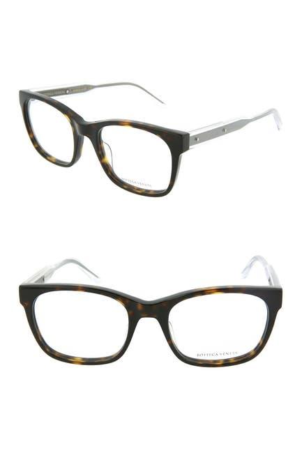 Image of Bottega Veneta 53mm Square Optical Frames