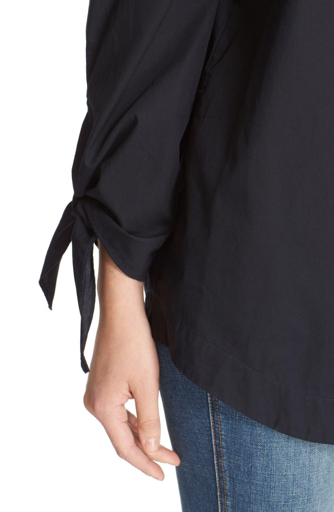 ,                             'Show Me Some Shoulder' Off the Shoulder Cotton Blouse,                             Alternate thumbnail 4, color,                             001