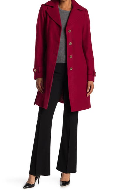 Michael Michael Kors Women's Missy Belted Wool Blend Trench Coat (various colors/sizes)