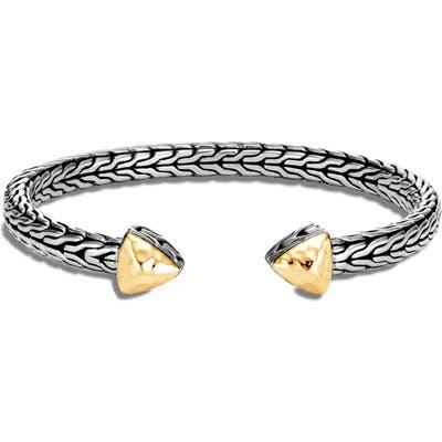 John Hardy Classic Chain Hammered Flex Cuff Bracelet