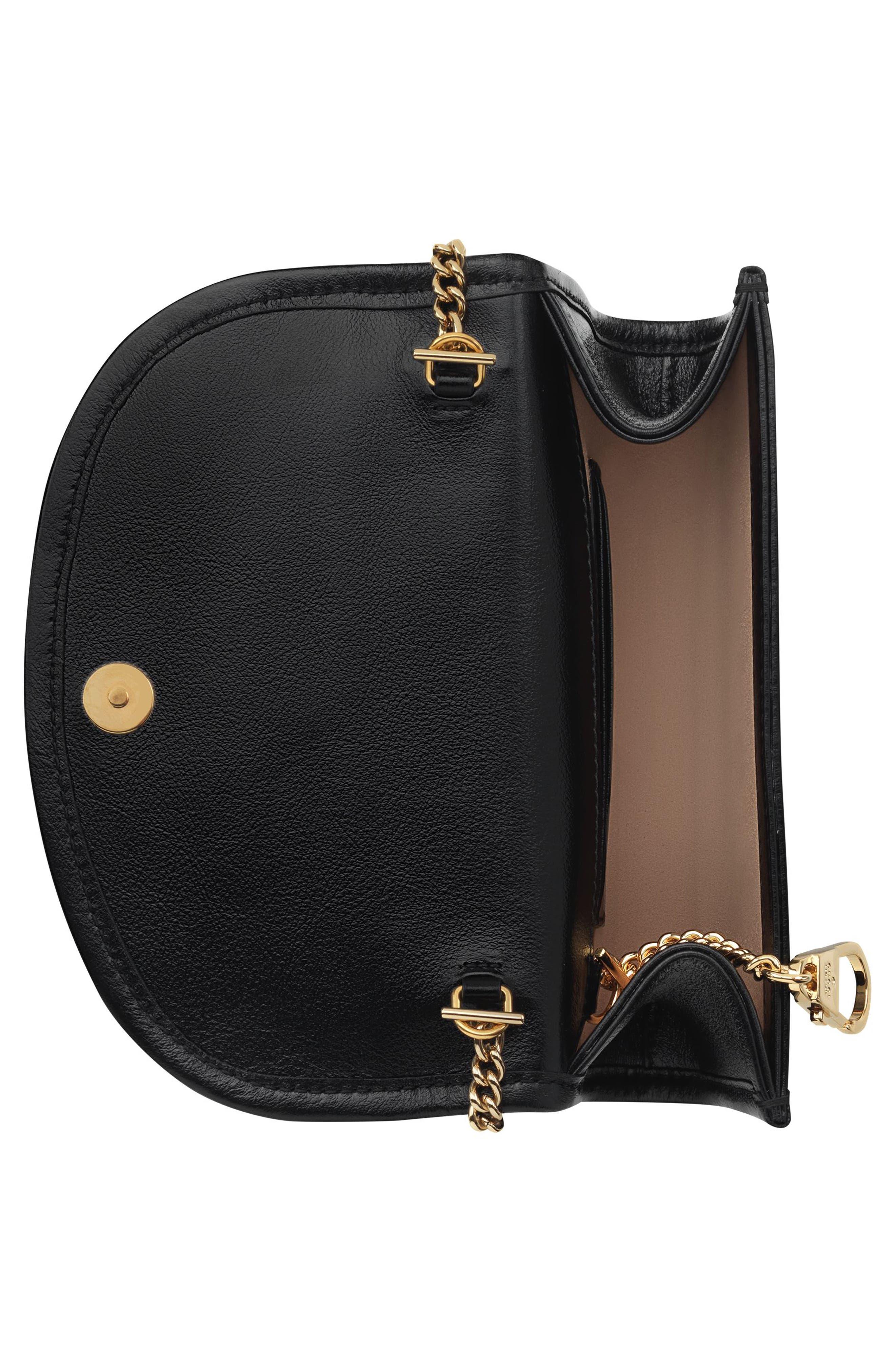 ,                             Mini Rajah Leather Crossbody Bag,                             Alternate thumbnail 3, color,                             NERO/ VERT RED MULTI