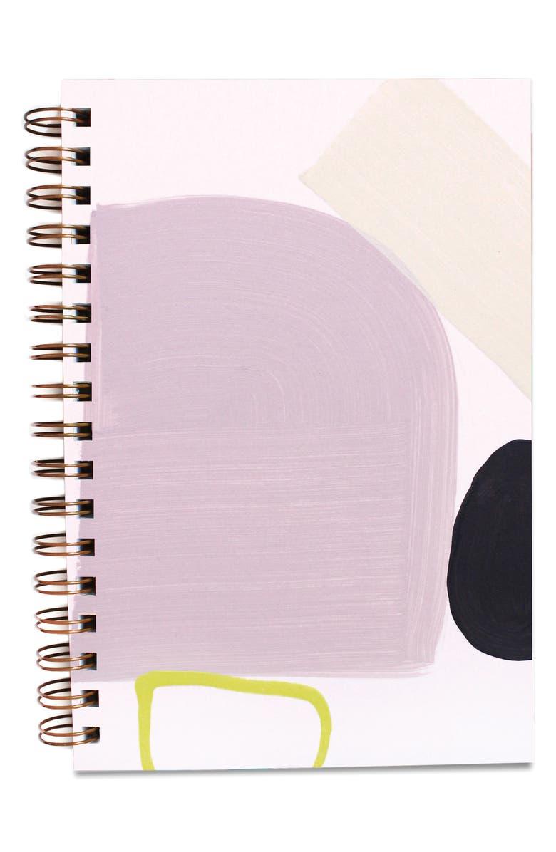 MOGLEA Hand Painted Notebook, Main, color, PURPLE RAIN