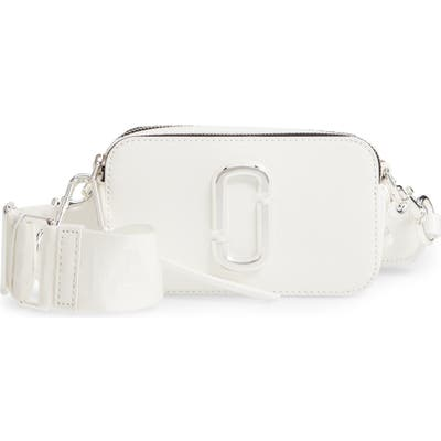 The Marc Jacobs Snapshot Leather Crossbody Bag - White