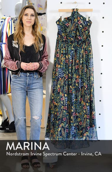Jason Wu x ELOQUII Floral Print Halter Maxi Dress, sales video thumbnail