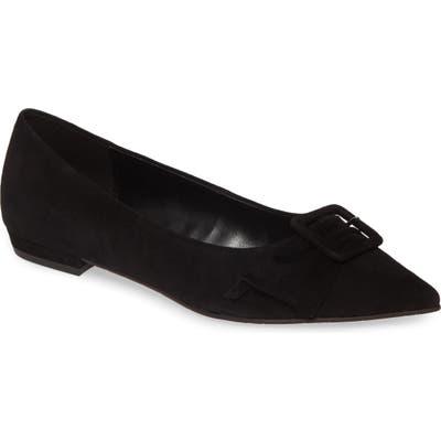 Pelle Moda Dana Skimmer Flat- Black