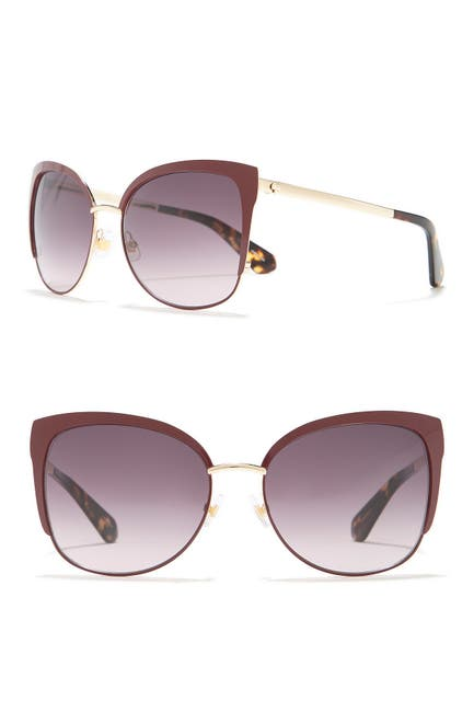 Image of kate spade new york genice 57mm cat-eye sunglasses