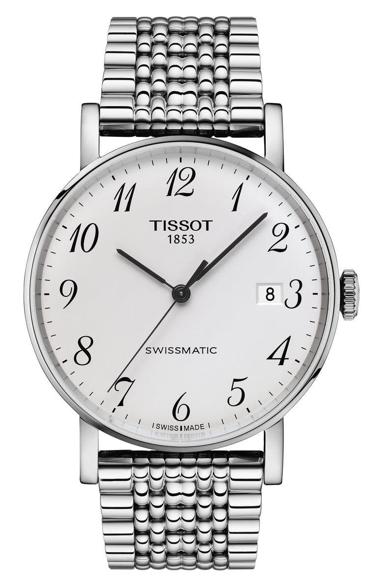 TISSOT Everytime Swissmatic Bracelet Watch, 40mm, Main, color, SILVER