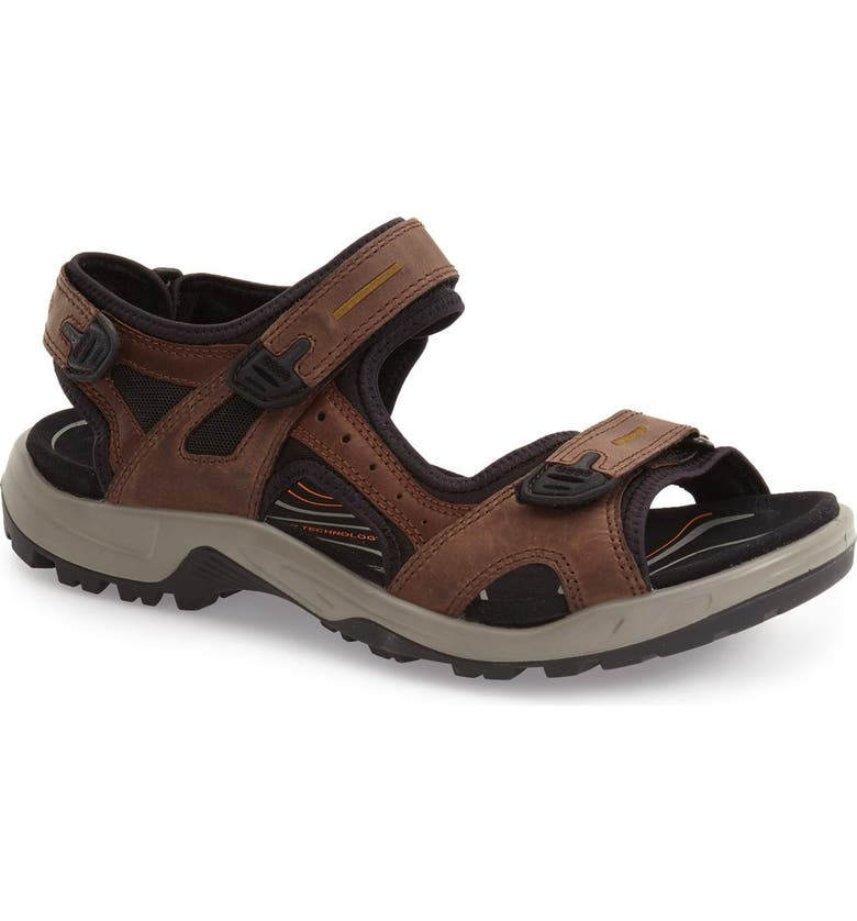 ECCO 'Yucatan' Sandal, Main, color, ESPRESSO LEATHER