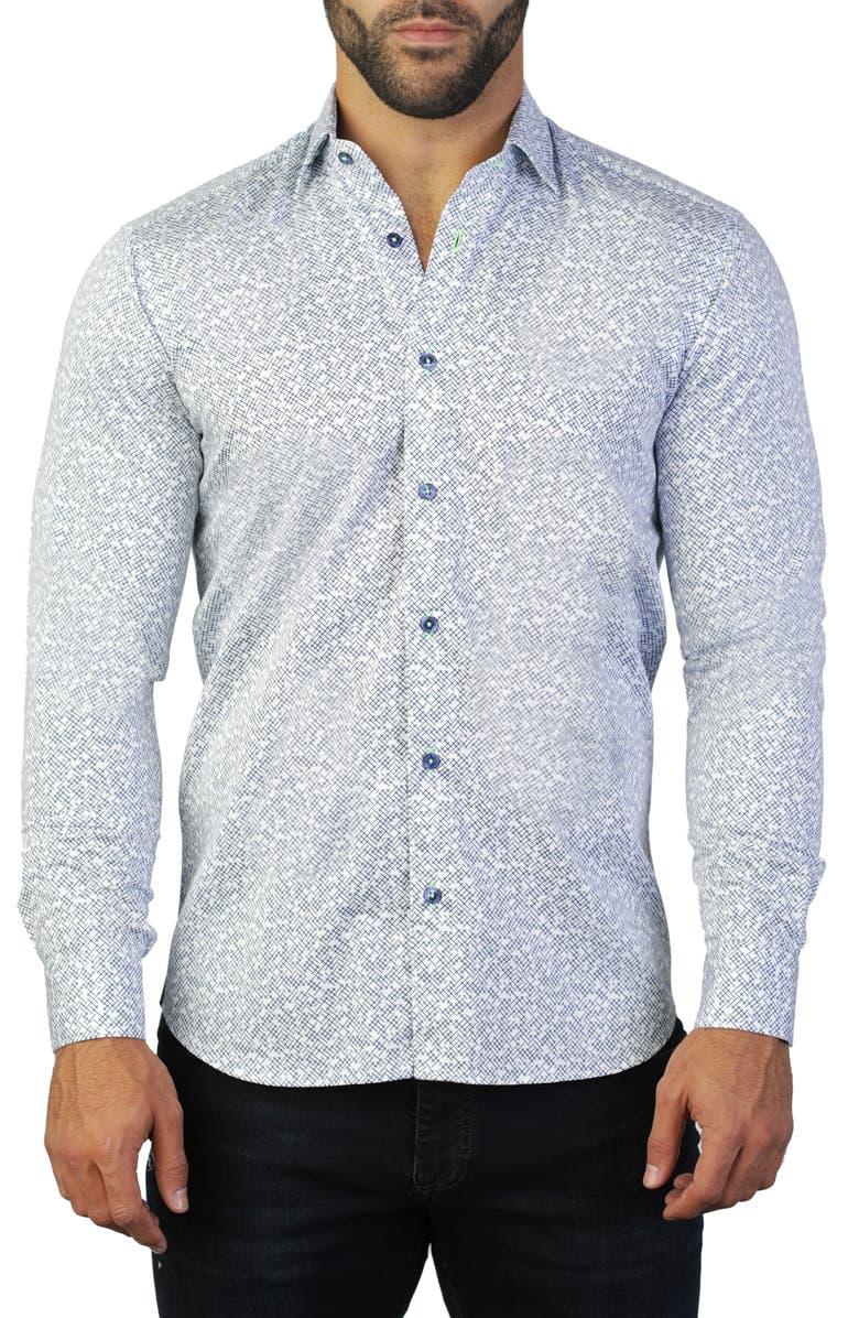 Maceoo Fibonacci Cross Regular Fit Shirt