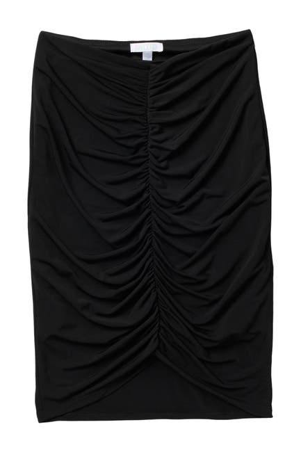 Image of Abound Ruched Front Midi Skirt