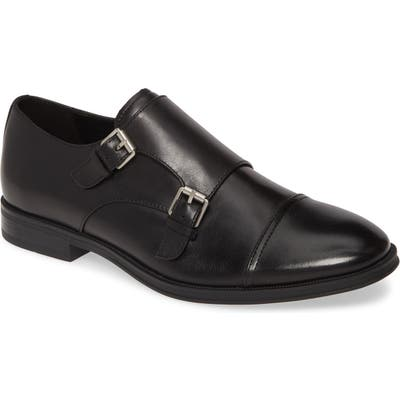 Calvin Klein Winthrope Double Monk Strap Shoe, Black