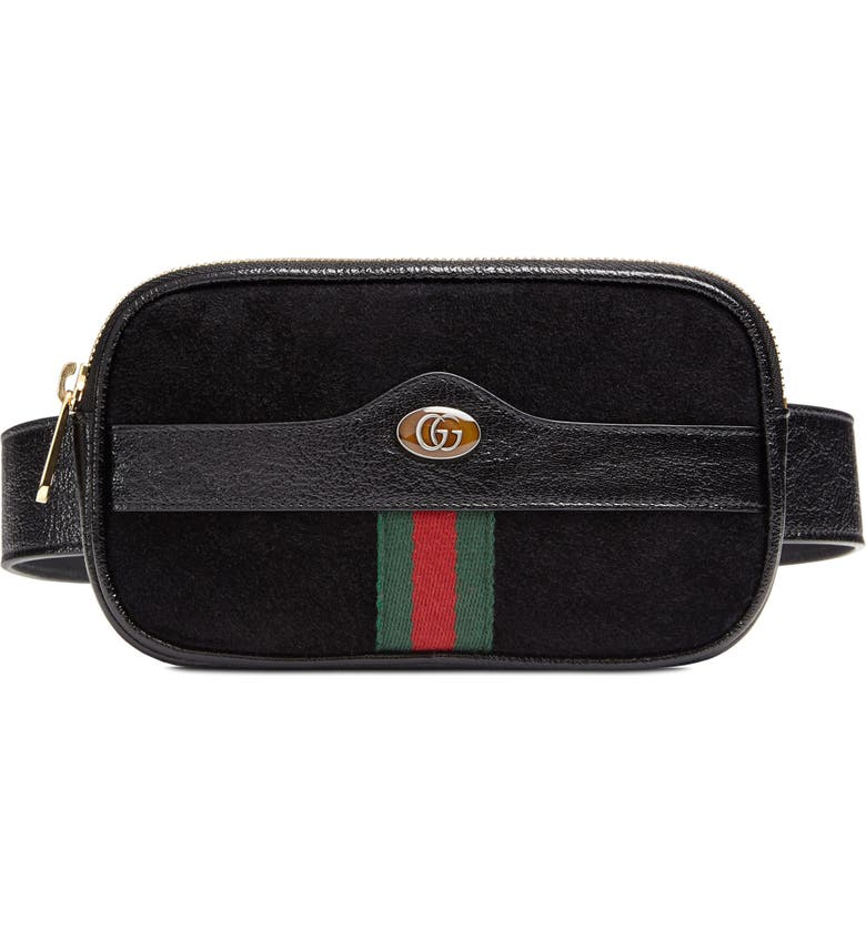 7f88a4f19 Ophidia Suede & Leather Belt Bag, Main, color, ...