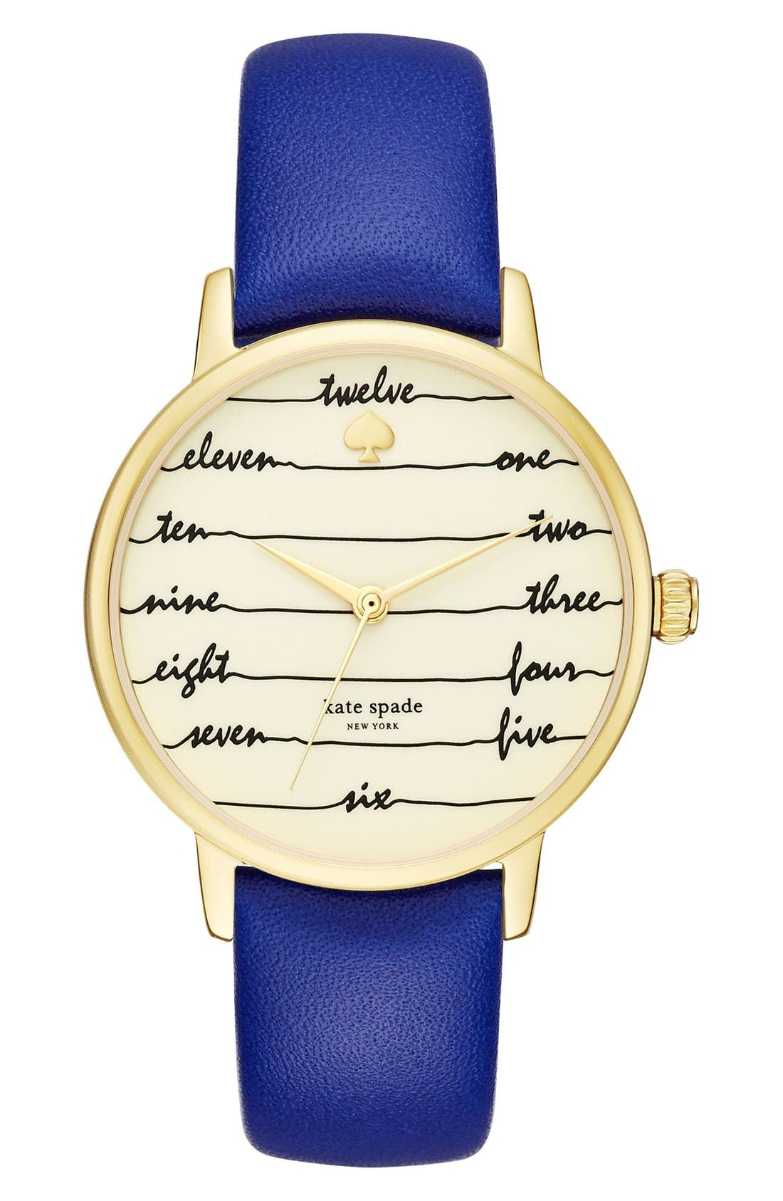 ,                             'metro - chalkboard' leather strap watch, 34mm,                             Main thumbnail 8, color,                             400