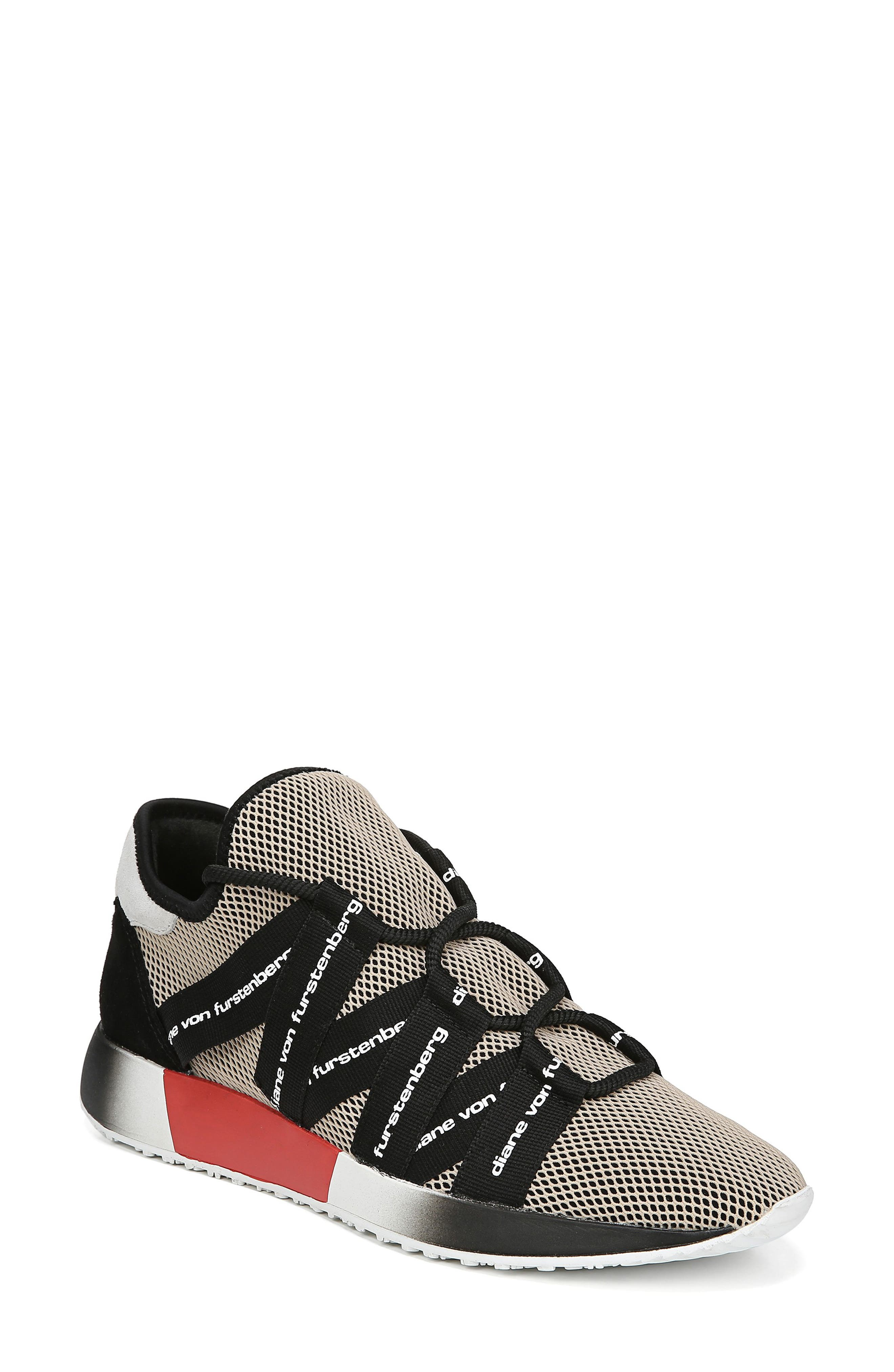 Diane Von Furstenberg Pandora Sneaker- Beige