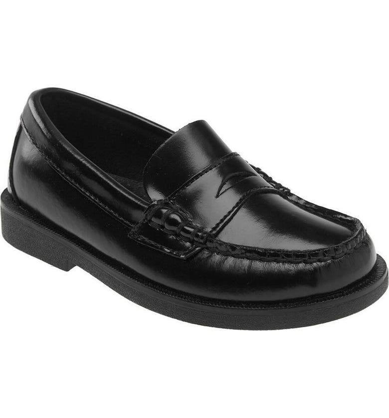 SPERRY KIDS 'Colton' Loafer, Main, color, BLACK LEATHER
