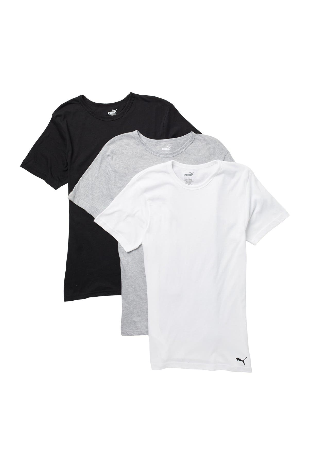Image of PUMA Crew Neck T-Shirts - Pack of 3