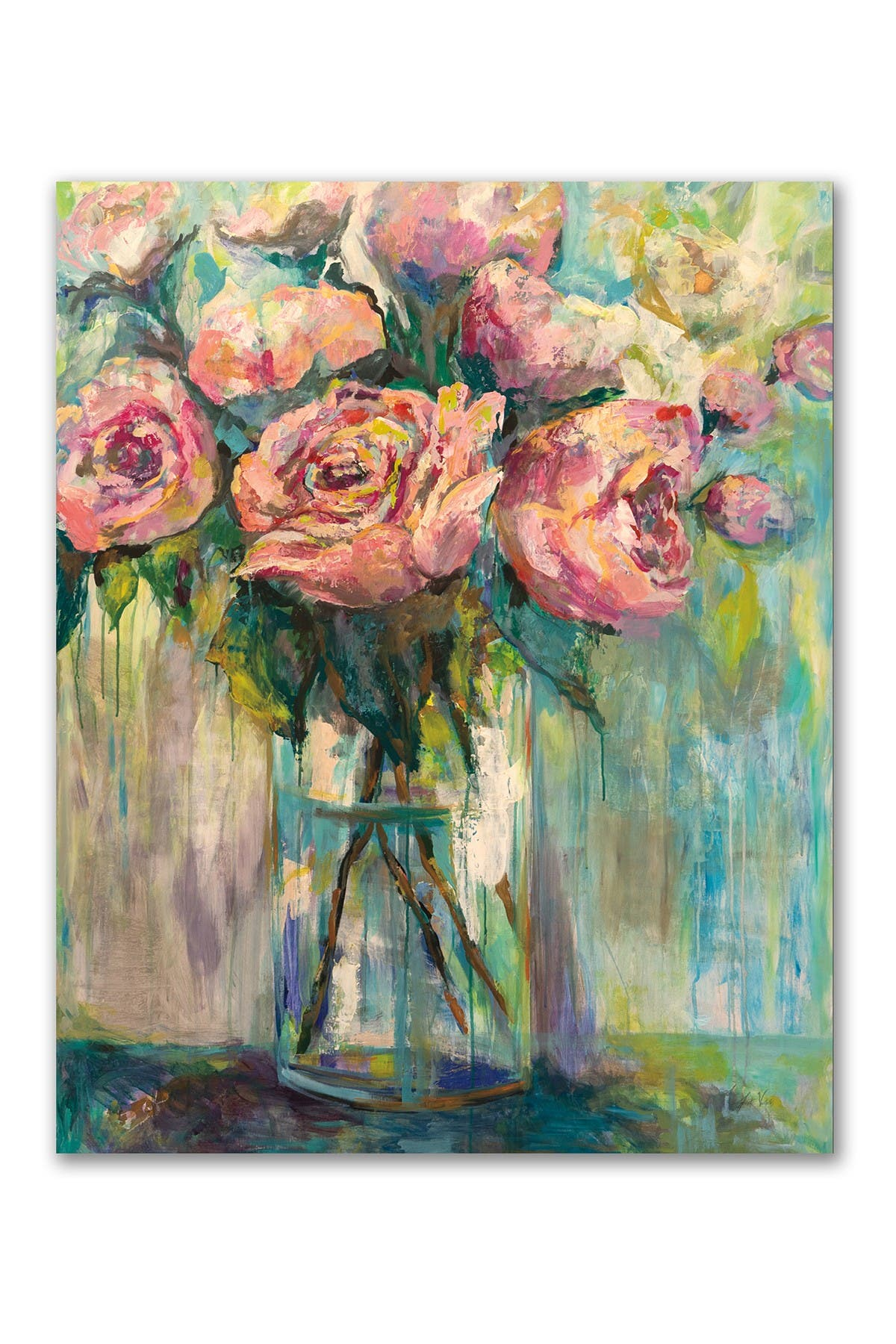 Image of COURTSIDE MARKET Peony Play Gallery Wrapped Canvas Wall Art