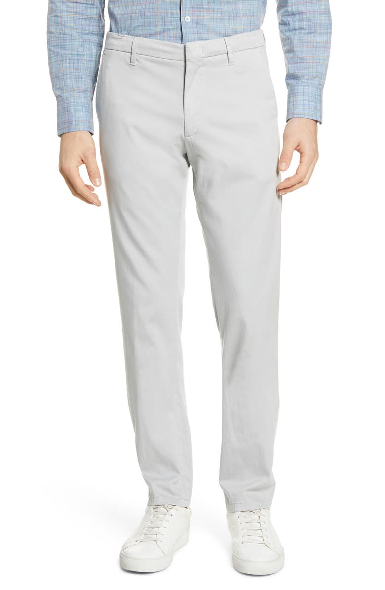 ZACHARY PRELL Aster Straight Leg Pants, Main, color, LIGHT GREY