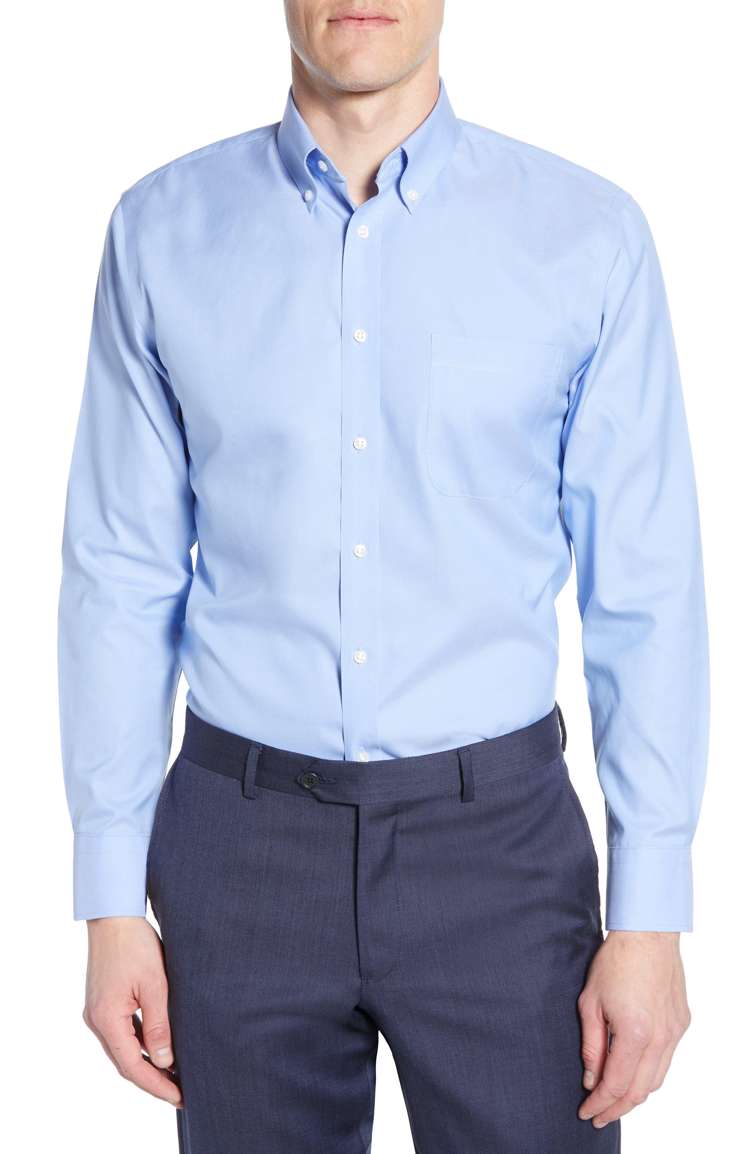 Nordstrom Shop Smartcare(TM) Trim Fit Dress Shirt - Blue