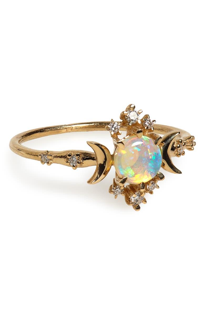 SOFIA ZAKIA Wandering Star Opal Ring, Main, color, GOLD