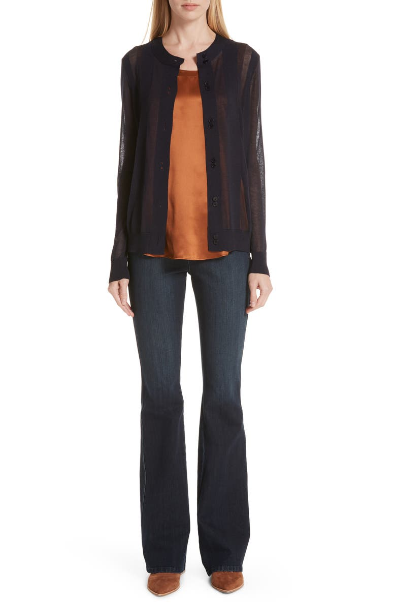 LAFAYETTE 148 NEW YORK Mercer Flare Jeans, Main, color, INDIGO