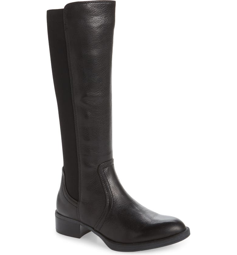 JOHNSTON & MURPHY Knee High Boot, Main, color, BLACK LEATHER