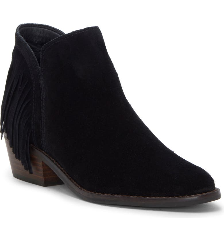 LUCKY BRAND Freedah Bootie, Main, color, BLACK SUEDE