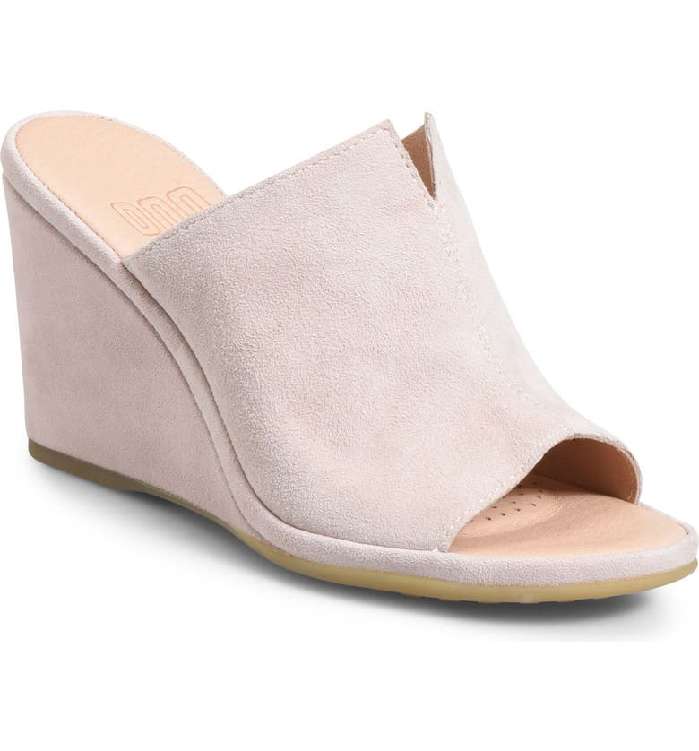 ONO Hannah Wedge Mule, Main, color, LIGHT PINK SUEDE