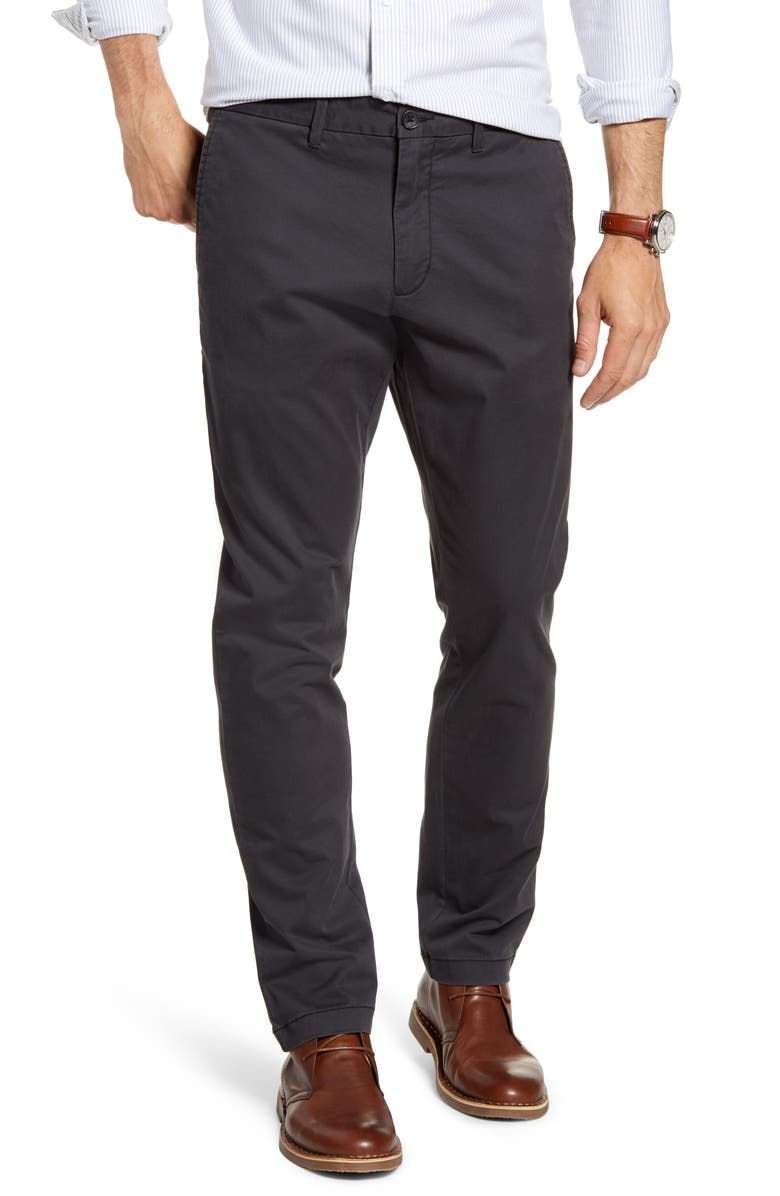 1901 Ballard Slim Fit Stretch Chino Pants, Main, color, GREY PHANTOM