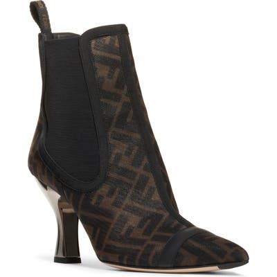 Fendi Colibri Bootie - Brown
