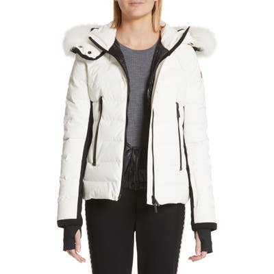 Moncler Lamoura Quilted Down Puffer Coat With Removable Genuine Fox Fur Trim
