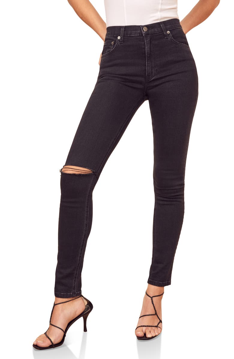 Jaden High & Skinny Jeans by Reformation