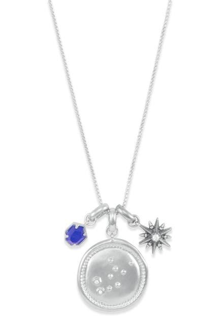 Image of Kendra Scott Rhodium Plated Virgo Charm Necklace