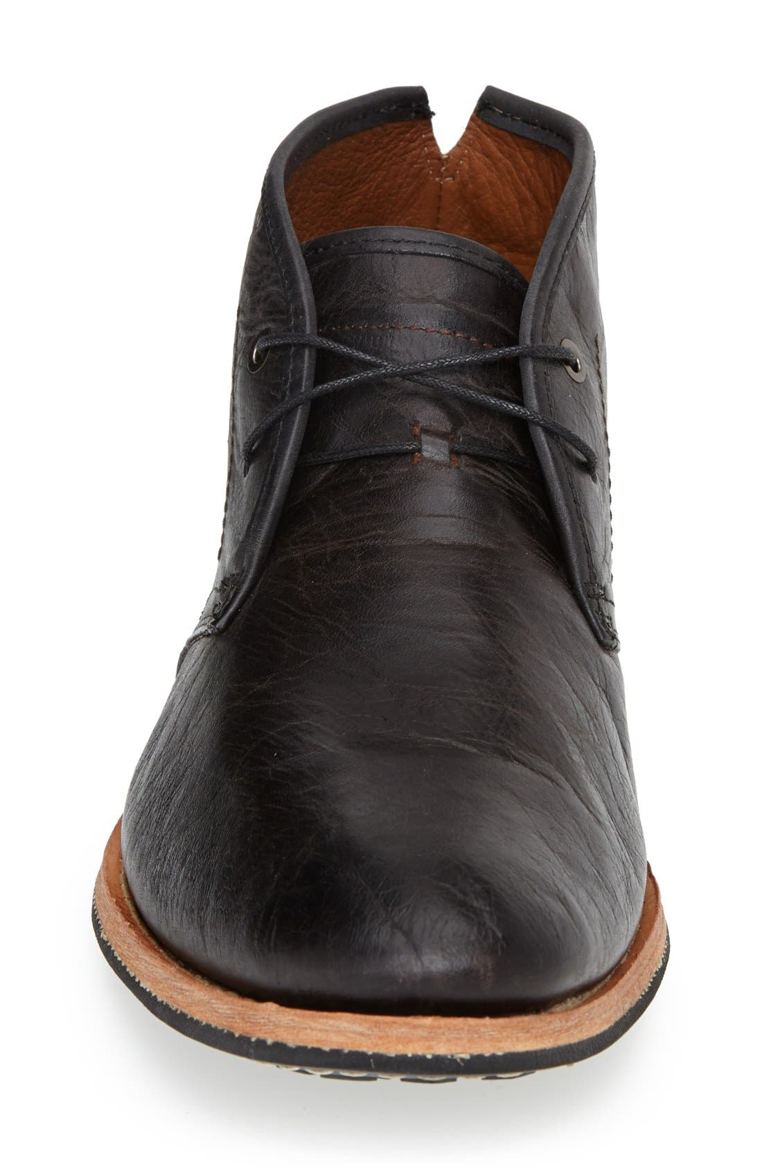 ,                             Wodehouse History Chukka Boot,                             Alternate thumbnail 4, color,                             BLACK LEATHER
