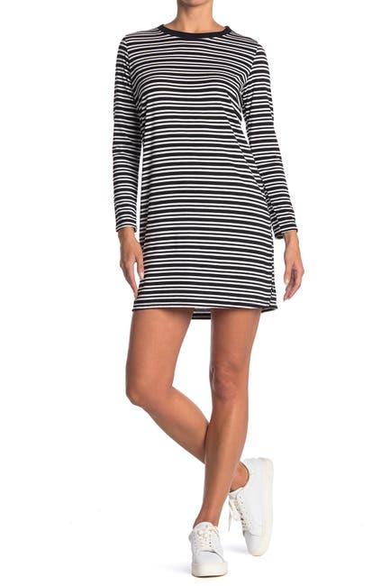 Image of Ceny Stripe Print T-Shirt Dress