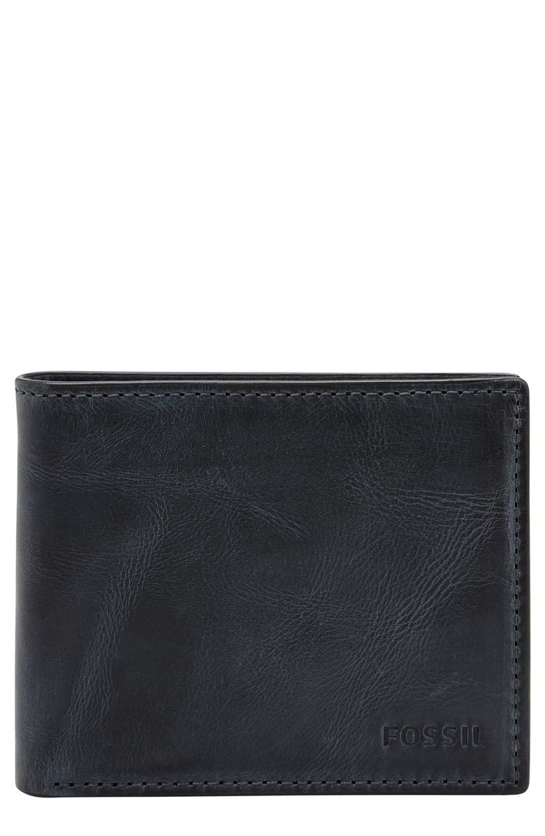 FOSSIL Derrick RFID Leather Bifold Wallet, Main, color, 406