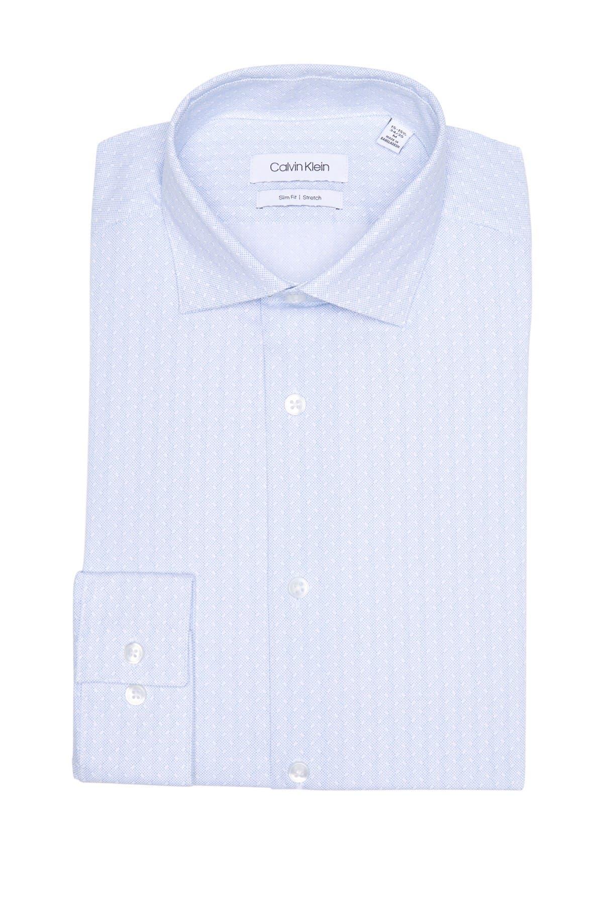 Image of Calvin Klein Pure Finish Slim Fit Dress Shirt