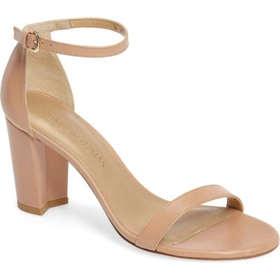 Stuart Weitzman Nearlynude Ankle Strap Sandal, Beige