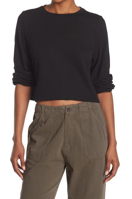 Image of Sisstrevolution Luna Lovin' Rib Knit Crop Top