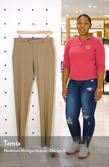Regular Fit Flat Front Dress Pants, sales video thumbnail