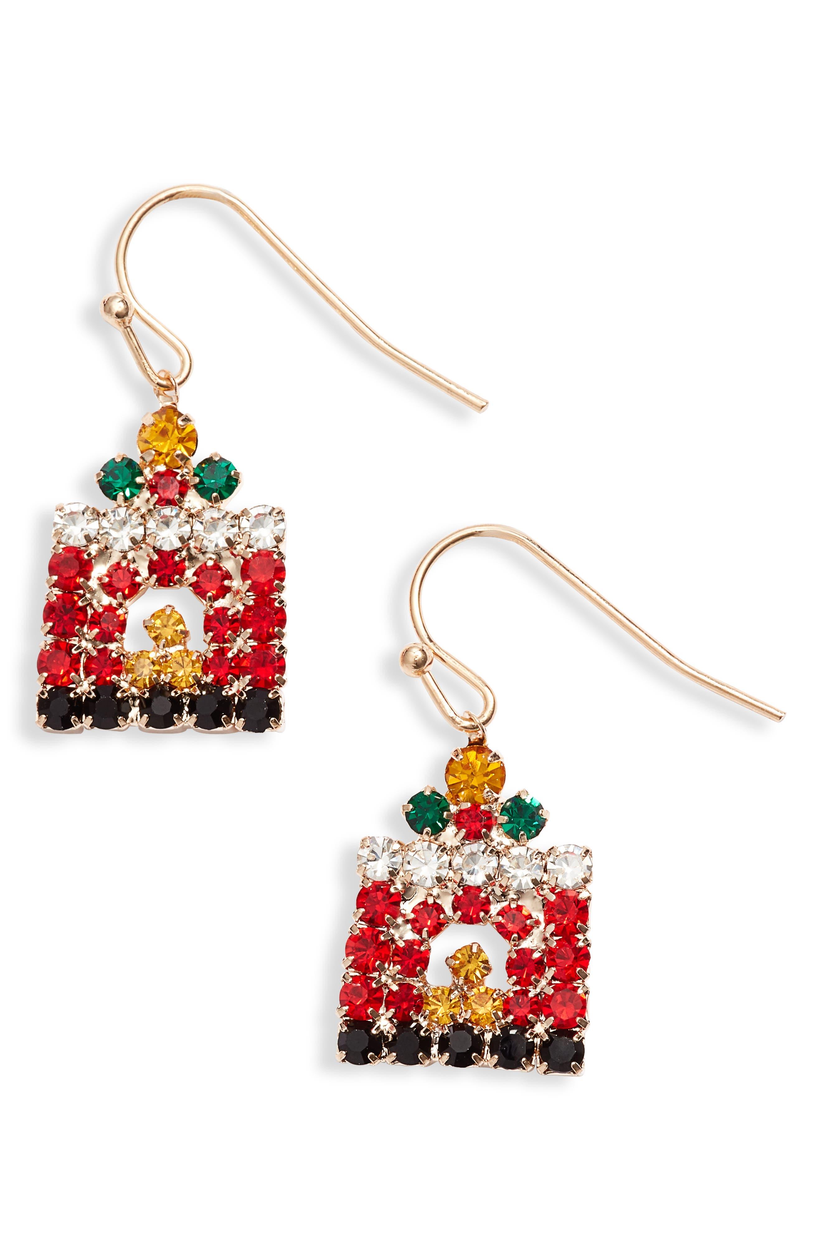 Crystal Fireplace Earrings