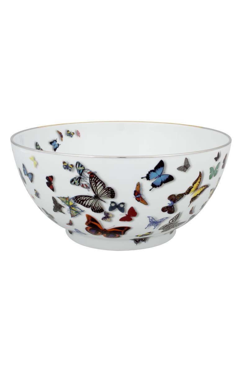 CHRISTIAN LACROIX Butterfly Parade Salad Bowl, Main, color, WHITE