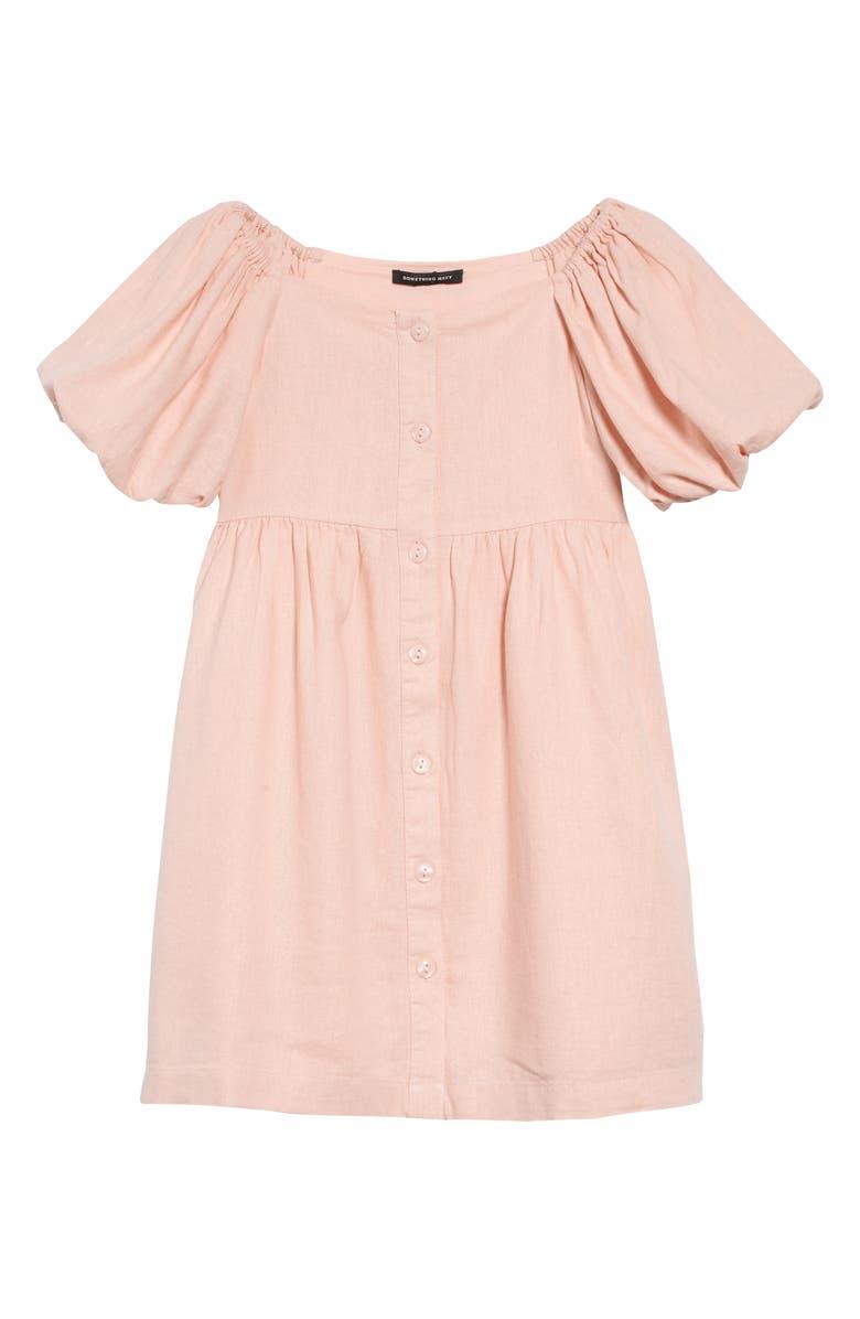 SOMETHING NAVY Balloon Sleeve Dress, Main, color, 680