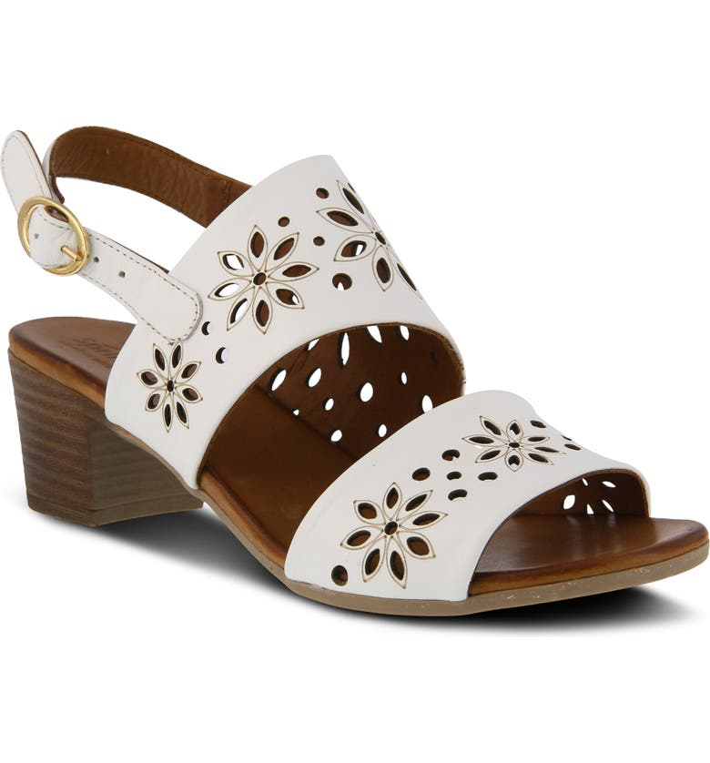 SPRING STEP Mandalay Sandal, Main, color, WHITE LEATHER