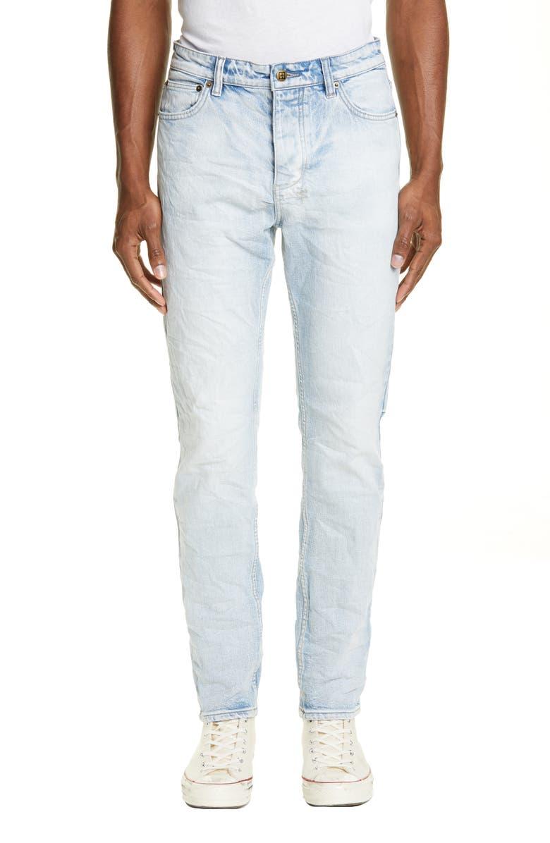 KSUBI Chitch Washed Out Skinny Fit Jeans, Main, color, 98 DENIM