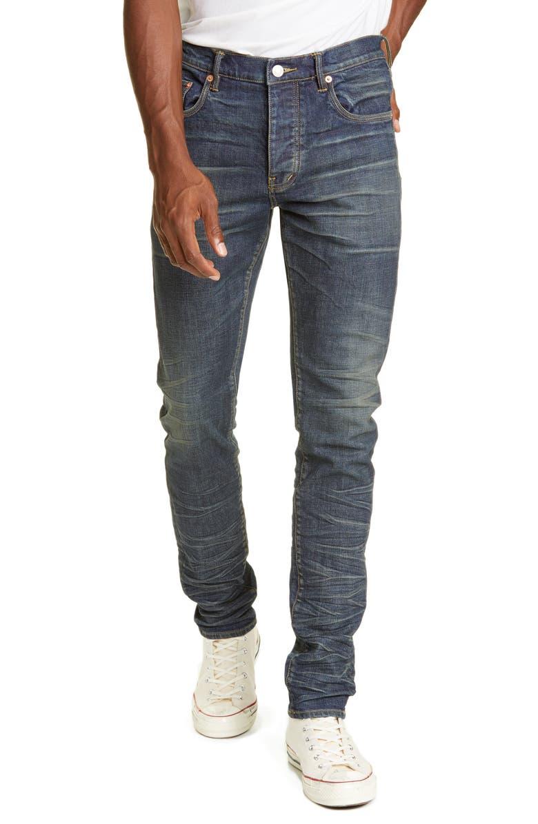 PURPLE Distressed Slim Fit Jeans, Main, color, VINTAGE VENUS WASH